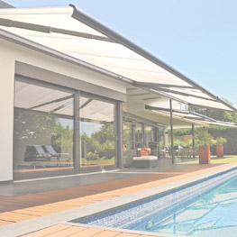 Picture of awnings near a pool